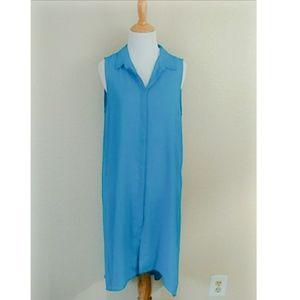 Vince Camuto Sleeveless Shirt Dress